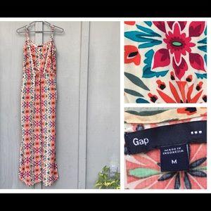 GAP Floral Spaghetti Strap Maxi Sun Dress
